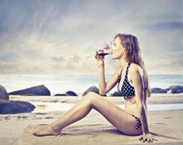 drinkförnyelse fotografering för bildbyråer