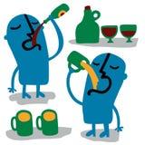 drinkglasse skakar män två Fotografering för Bildbyråer
