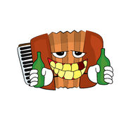 Drinking Accordion illustration Stock Image