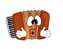 Drinking Accordion illustration Stock Images