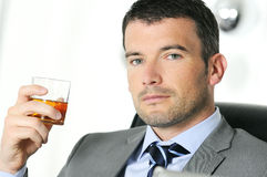 Drinking alchool Royalty Free Stock Images