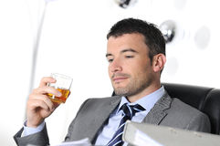 Drinking Alcohol Royalty Free Stock Photos