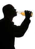 Drinking alcohol Stock Image