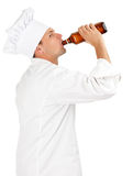 Drinking alcohol chef Stock Photo