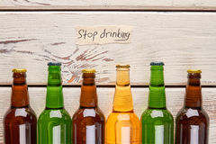 Drinking alcohol dangerous for life. Royalty Free Stock Images