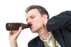 Drinking away the pain Stock Photo