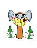 Drinking axe cartoon Royalty Free Stock Photography
