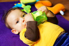 Drinking baby Stock Photography