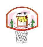 Drinking basketball hoop cartoon Stock Images