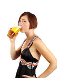 Drinking beer Royalty Free Stock Photos
