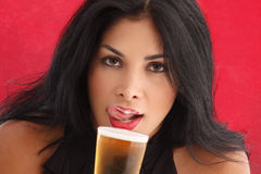 Drinking beer Royalty Free Stock Images