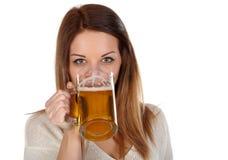 Drinking beer Stock Photos