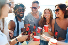 Drinking beer Royalty Free Stock Photography