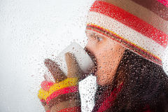 Drinking beverage Stock Images