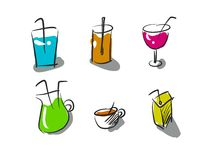 Drinking and beverage. Your style and favorite drinking stock illustration