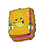 Drinking Biscuit cartoon Stock Images