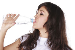 Drinking from bottle Stock Photography