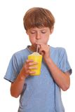 Drinking boy Royalty Free Stock Photography