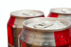 Drinking Cans Royalty Free Stock Photography