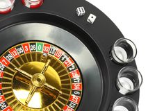 Drinking casino roulette Stock Photography