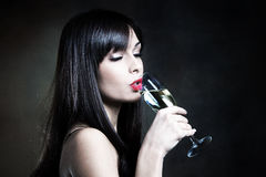 Drinking champagne Stock Photography