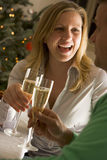 Drinking Champagne Royalty Free Stock Photos