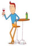 Drinking champagne. Illustration of a man drinking champagne. Available in vector eps 10 file Royalty Free Stock Image