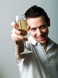 Drinking champaign Royalty Free Stock Photo