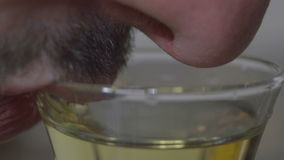 Drinking Close Up stock video