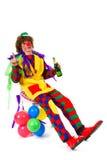 Drinking clown Royalty Free Stock Photos
