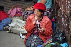 Drinking coca-cola bottle, Chichicastenango, Guatemala Royalty Free Stock Photos