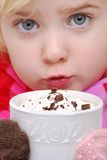 Drinking Cocoa Stock Photography
