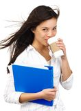 Drinking coffee Stock Images