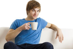 Drinking coffee Stock Image