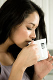Drinking coffee. Royalty Free Stock Images