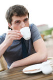Drinking Coffee. Royalty Free Stock Image