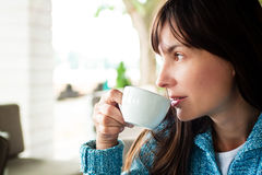Drinking coffee Royalty Free Stock Photo