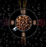 While drinking coffee abstraction Royalty Free Stock Photography