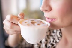 Drinking coffee Royalty Free Stock Photos