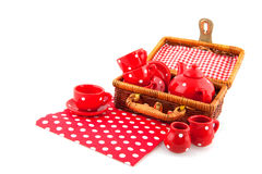 Drinking coffee or tea while picnic Royalty Free Stock Photos
