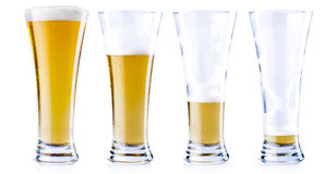 Drinking a cold beer Stock Image
