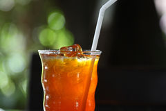 Drinking , Cold ice Lemon tea Royalty Free Stock Images