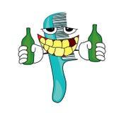 Drinking Comb cartoon Royalty Free Stock Image