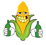 Drinking Corn cartoon Royalty Free Stock Images