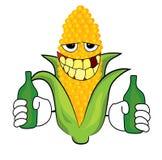 Drinking Corn cartoon. Vector illustration of drinking cartoon royalty free illustration