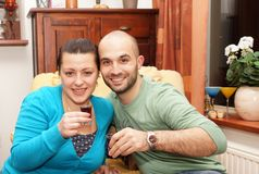 Drinking couple Royalty Free Stock Photography