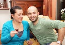 Drinking couple Royalty Free Stock Photo