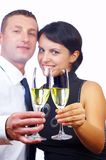 Drinking couple Stock Images