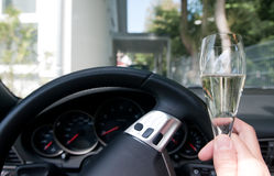Drinking and driving Stock Image