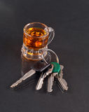 Drinking and Driving. The Dangers of Drinking and Driving Royalty Free Stock Photo